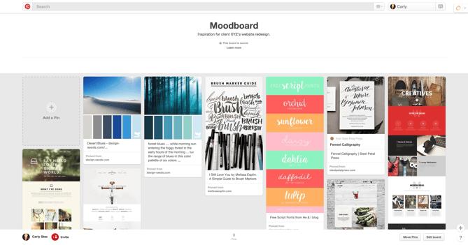 Pinterest Moodboard