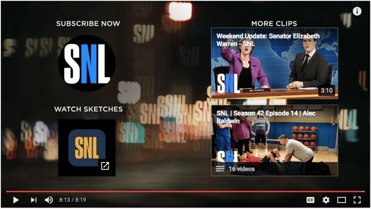 Exemple d'écran de fin