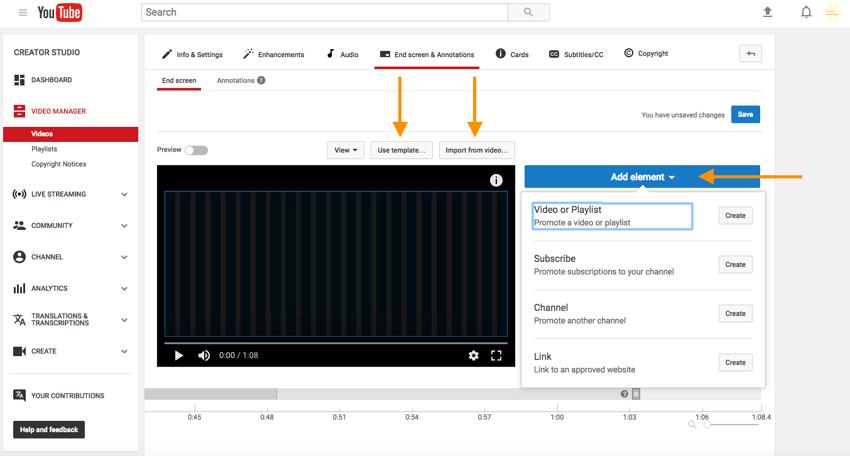Comment ajouter un écran de fin sur YouTube