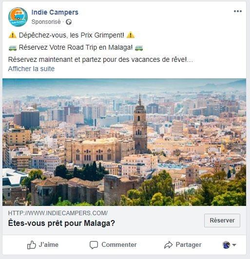 """Résultat de recherche d'images pour """"publicité facebook exemple"""""""