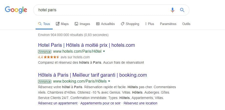 Exemple-publicite-Google-HotelParis