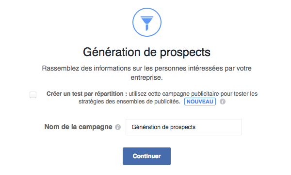 facebook ads creation step 3