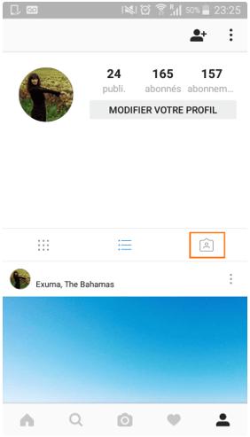 Valider identification sur profil instagram