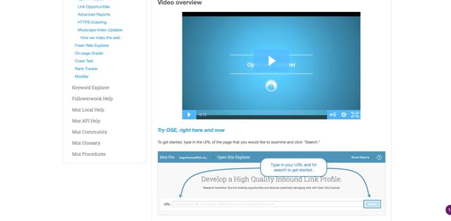 Vidéos de la base de connaissances de Moz