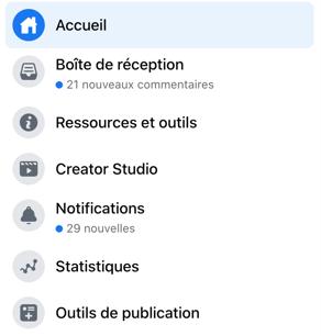 Section outils de publication