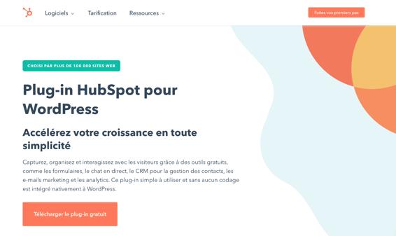 Plug-in HubSpot pour WordPress