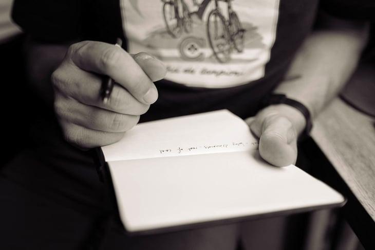 Ecriture carnet