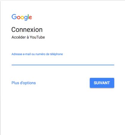 Connexion à Google