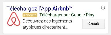 annonce pour application mobile airbnb
