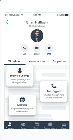 app crm mobile hubspot