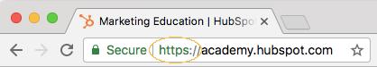 URL https dans chrome