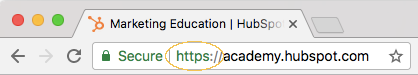 URL https dans chrome
