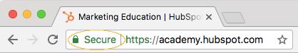 URL secure dans chrome