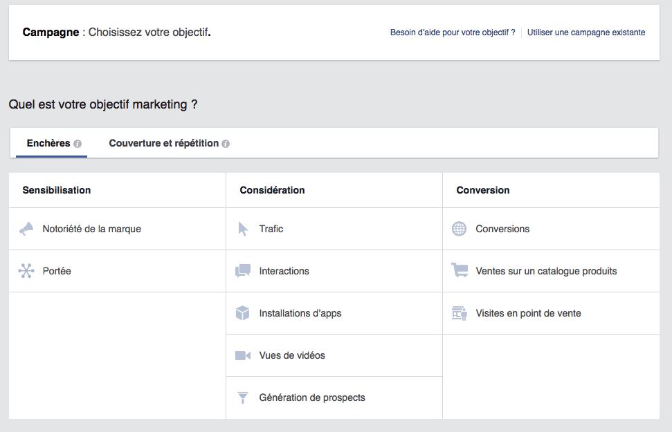 facebook ads creation step 2