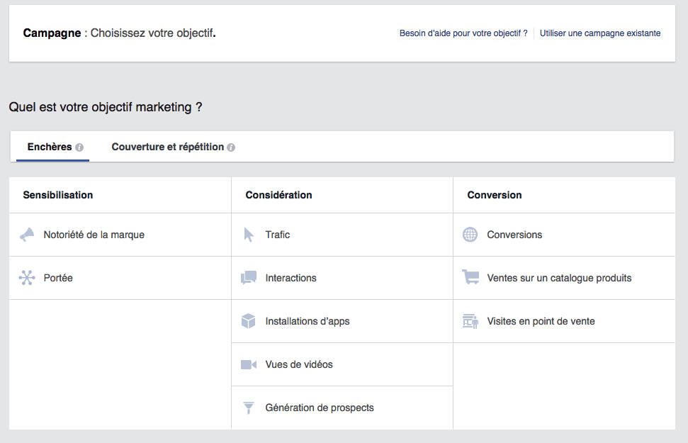 facebook ads creation step 2