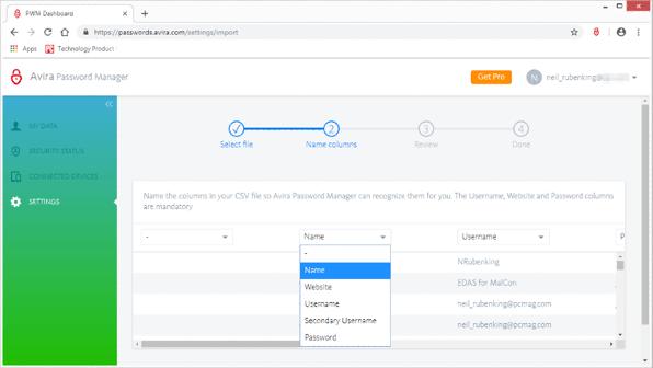 Avira Password Manager - gestionnaire de mot de passe
