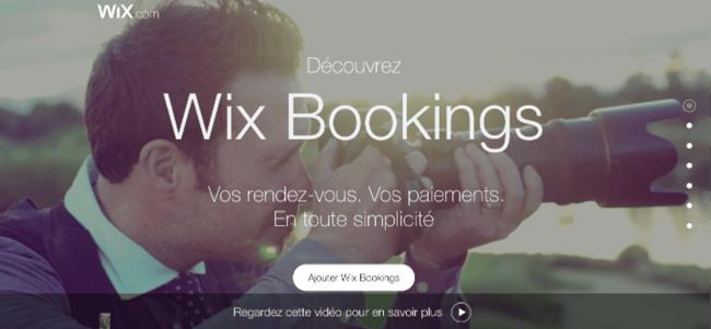Logiciel de prise de rdv Wix Bookings