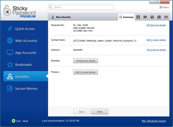 Sticky Password - gestionnaire de mot de passe