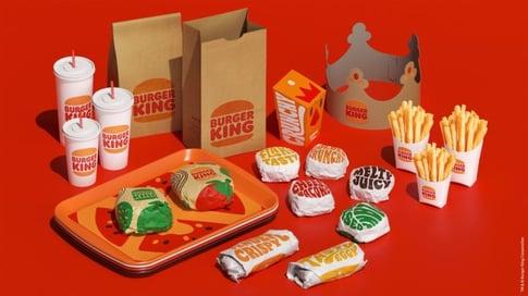 déclinaison charte grahique burger king