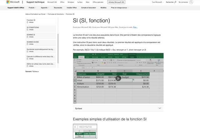 Fonction si de la base de connaissances de Microsoft