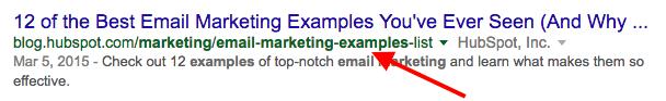 Résultat de moteur de recherche avec URL optimisée