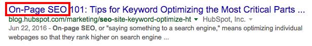 Résultat de moteur de recherche optimisé