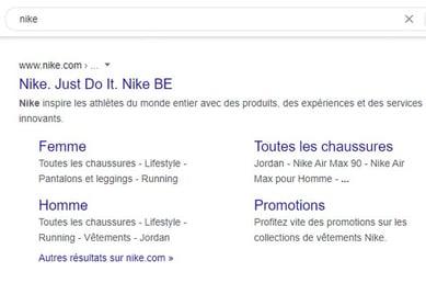recherche google nike