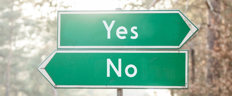 yes et no signs