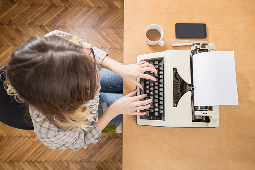 écriture machine à écrire