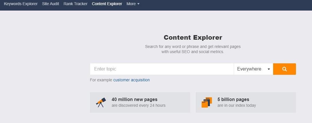 Content Explorer ahrefs