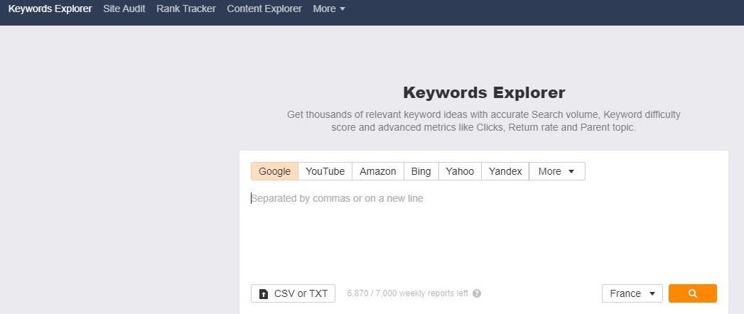 Keywords Explorer ahrefs