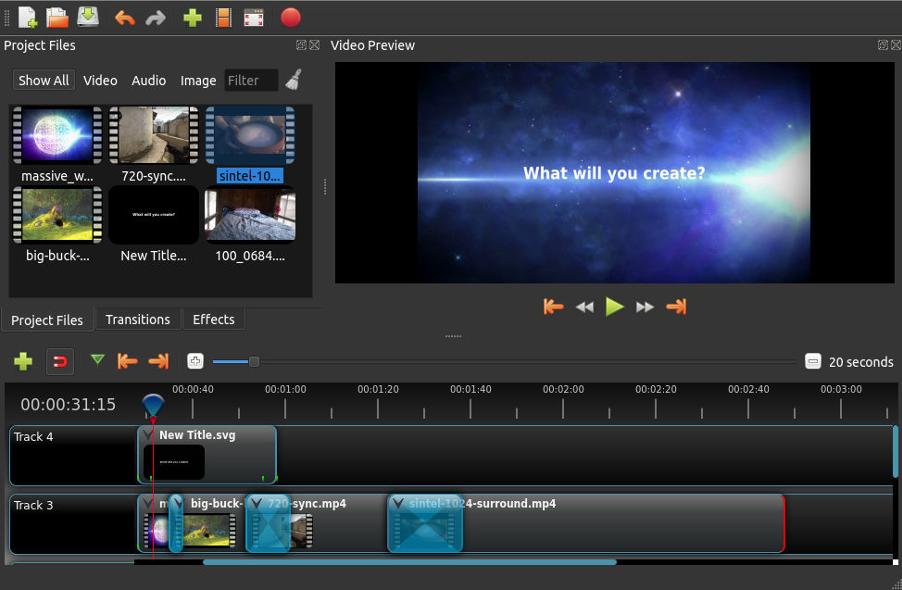 Logiciel OpenShot Video Editor