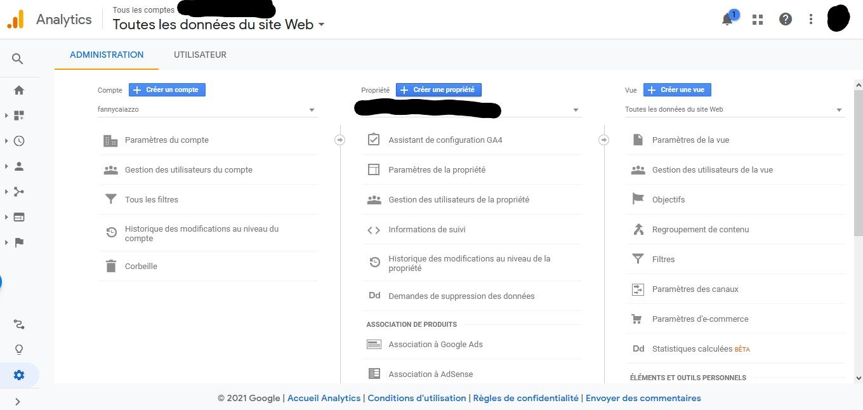 revendiquer la propriété site internet google analytics