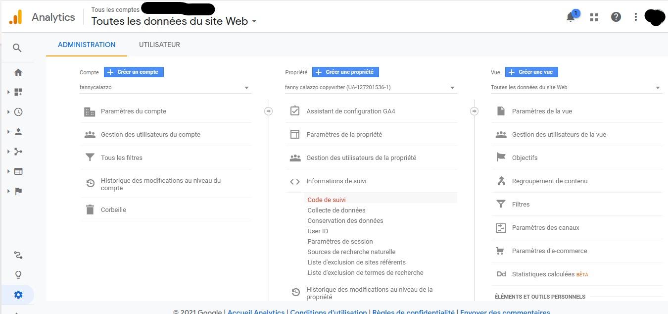 TUTO GOOGLE ANALYTICS POUR GENERER LE PIXEL