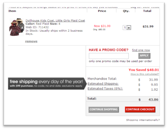 page panier site e-commerce Macys.com