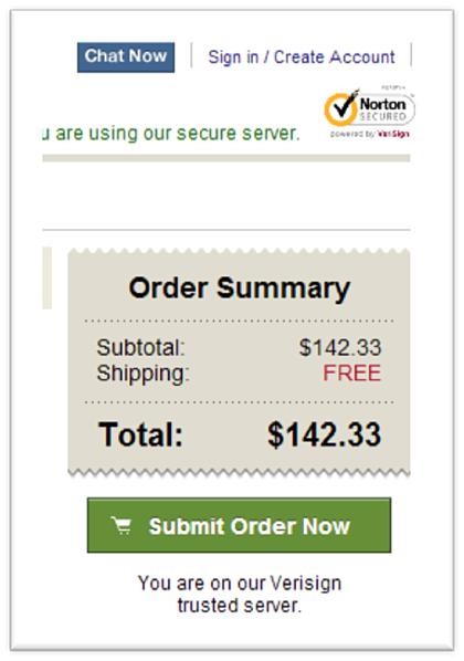 Message de sécurité commande e-commerce