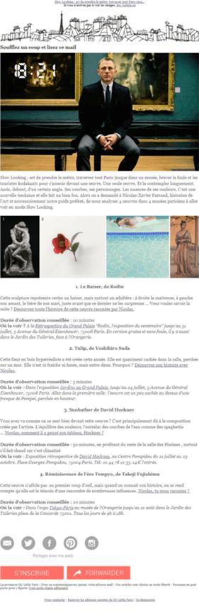 newsletter de My Little Paris