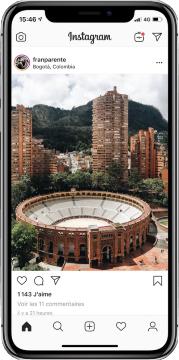 Instagram sur smartphone