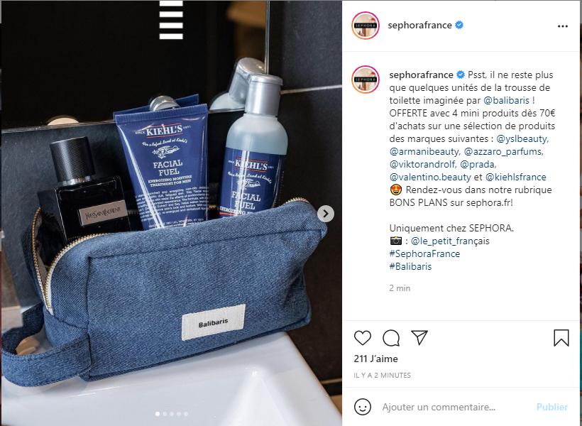légende photo instagram de Sephora