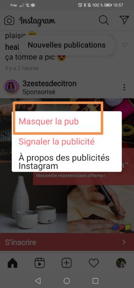 masquer publicités