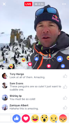 Commentaires Facebook Live