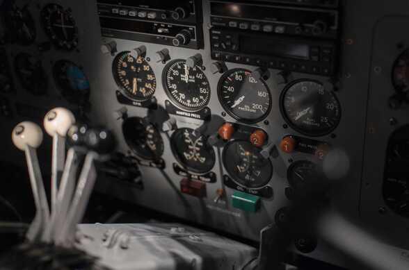 instruments de mesure dans cockpit