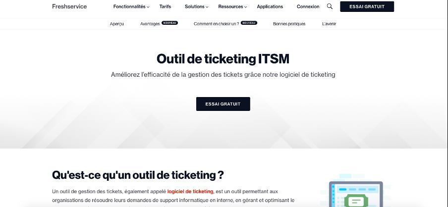Freshservice logiciel de ticketing