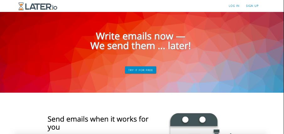 Later.io pour programmer ses mails avec Yahoo