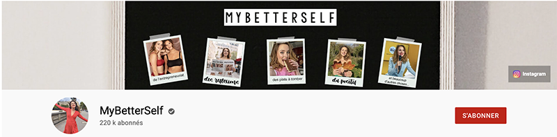 bannière YouTube de MyBetterSelf