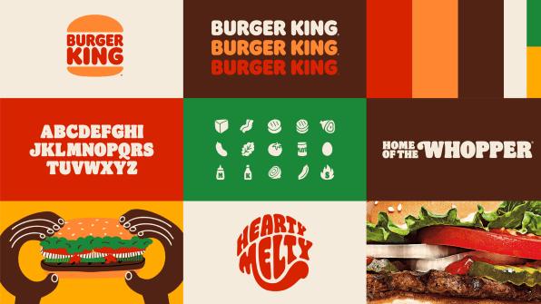couleurs pour la charte graphique de Burger King
