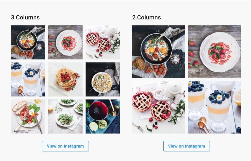 affichage flux Instagram