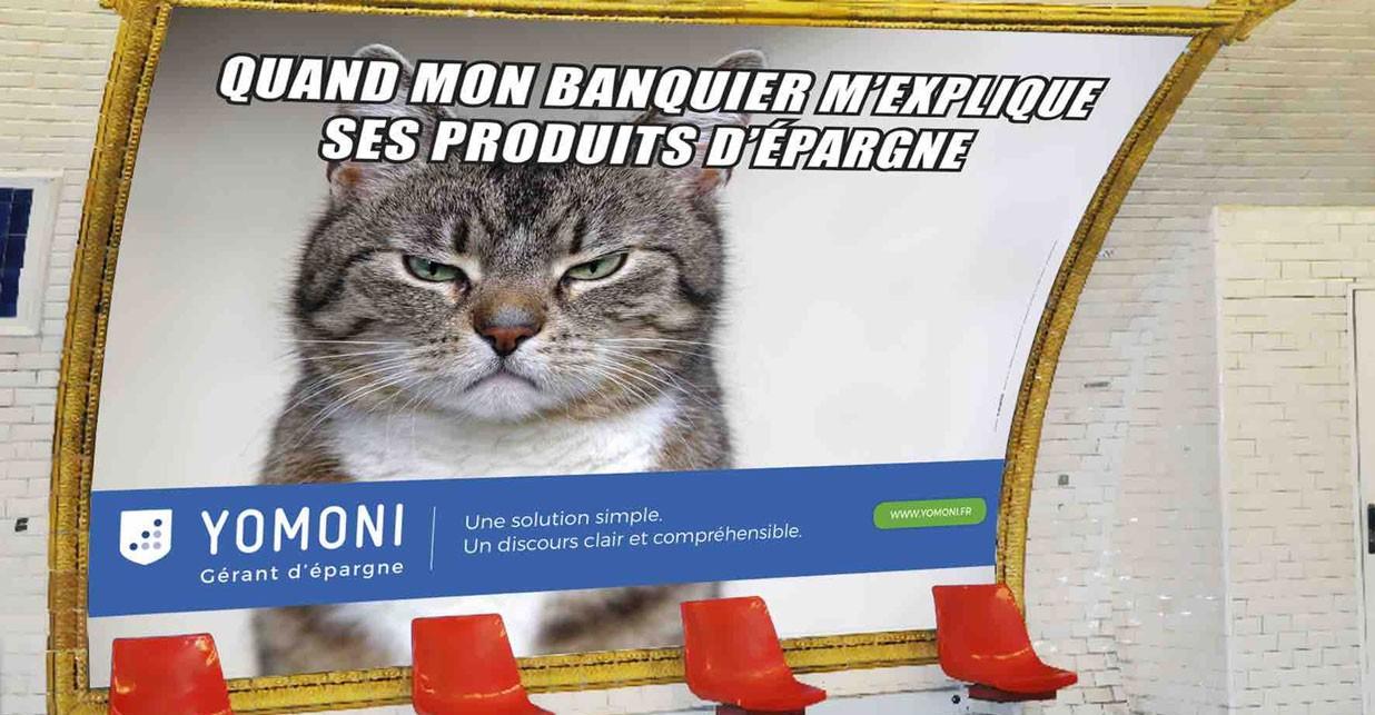 affiche publicitaire yomoni métro