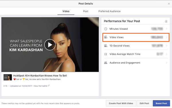 Comment comprendre les statistiques vidéo de Facebook ?